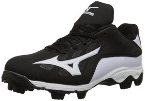 Mizuno 9 Spike ADV YTH FRHSE 8 BK-WH Youth Molded Cleat